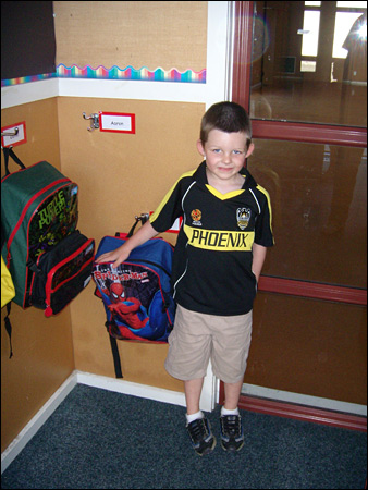 max on his first day at school